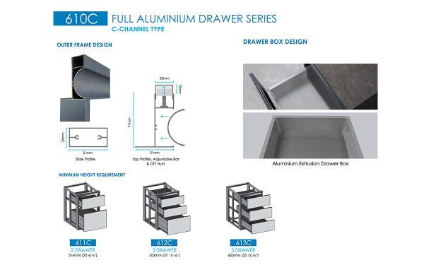 aluminium storage drawer manufacturer
