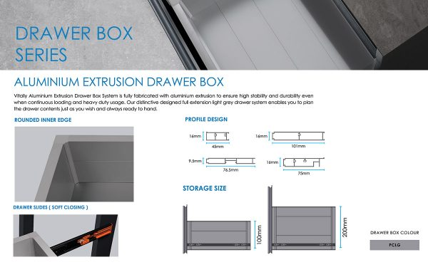 aluminium kitchen storage drawer malaysia