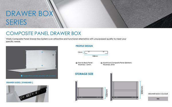 composite panel for drawer