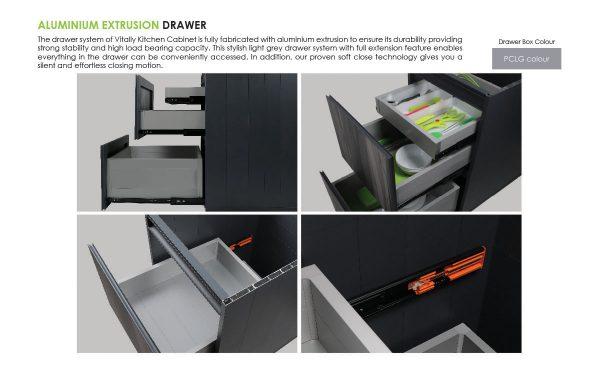 aluminium storage drawers