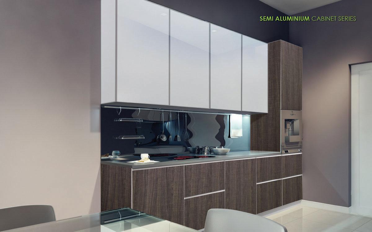 Semi Aluminium Cabinet Series For Kitchen Vitally